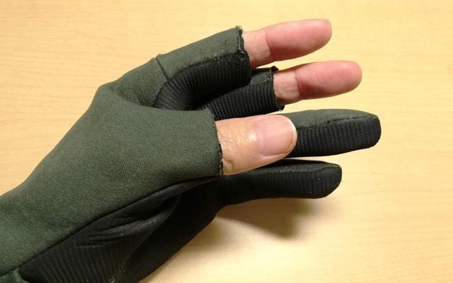 釣り用の防寒手袋