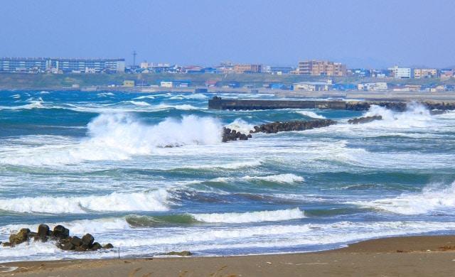 釣り場の風が強い