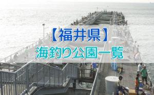 福井県の海釣り公園