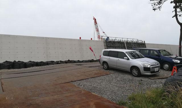 福浦岸壁の新堤防