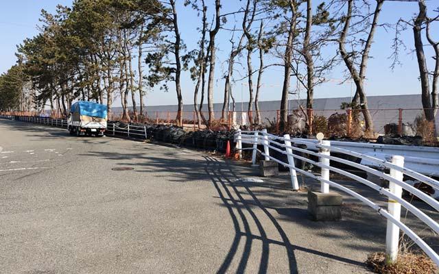 福浦岸壁の工事
