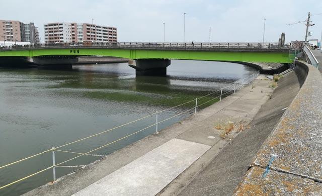 芦穂橋でのハゼ釣り