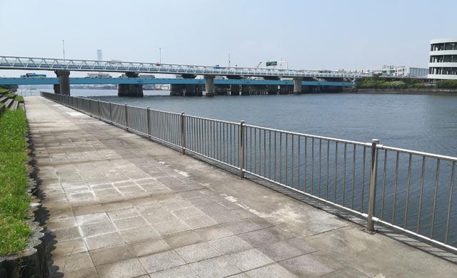 鶴見大橋でのハゼ釣り