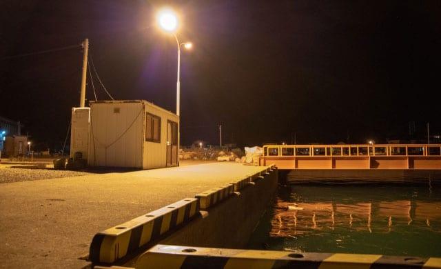 港湾のルアーシーバス