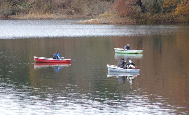 ボートのワカサギ釣り
