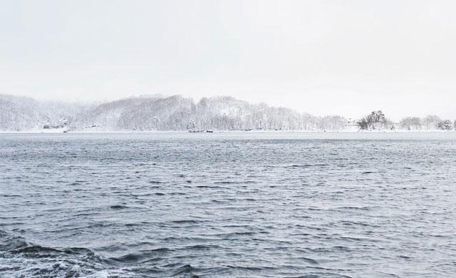 桧原湖のワカサギ釣り