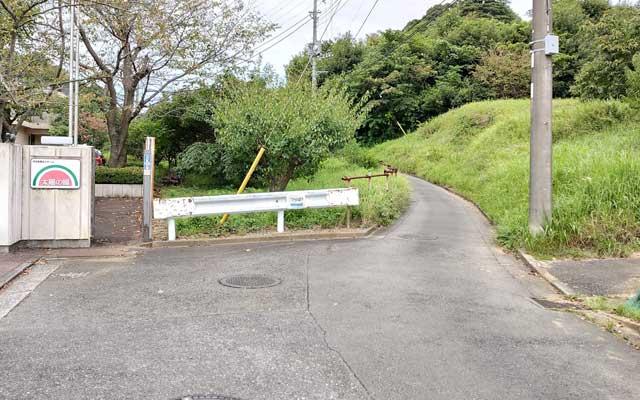 緑水園へ通じる道路
